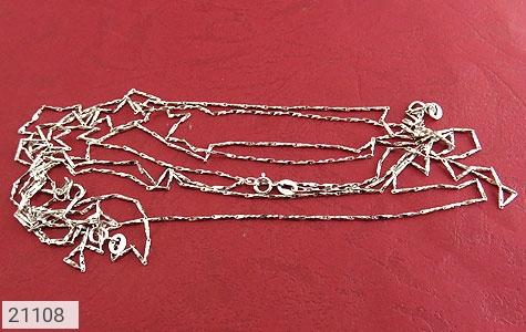تصویر زنجیر نقره طرح خط حلقه 46 سانتی زنانه - شماره 3