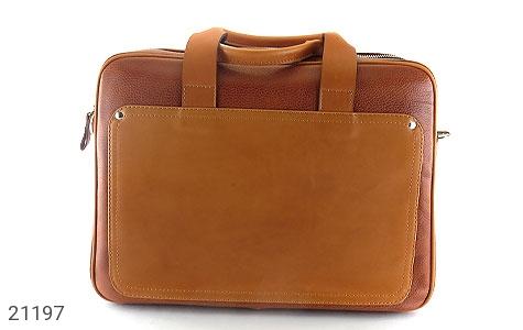 تصویر کیف چرم طبیعی عسلی دستی یا دوشی سایز بزرگ - شماره 2