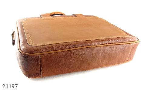 تصویر کیف چرم طبیعی عسلی دستی یا دوشی سایز بزرگ - شماره 5