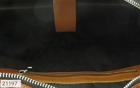 تصویر کیف چرم طبیعی عسلی دستی یا دوشی سایز بزرگ - شماره 6