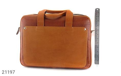 تصویر کیف چرم طبیعی عسلی دستی یا دوشی سایز بزرگ - شماره 8