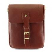 کیف چرم طبیعی دوشی اسپرت قهوه ای خوش رنگ