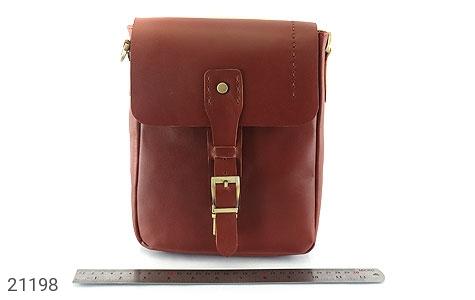 تصویر کیف چرم طبیعی دوشی اسپرت قهوه ای خوش رنگ - شماره 10