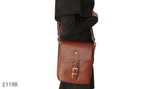 تصویر کیف چرم طبیعی دوشی اسپرت قهوه ای خوش رنگ - شماره 11