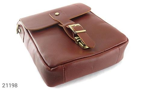 عکس کیف چرم طبیعی دوشی اسپرت قهوه ای خوش رنگ - شماره 5