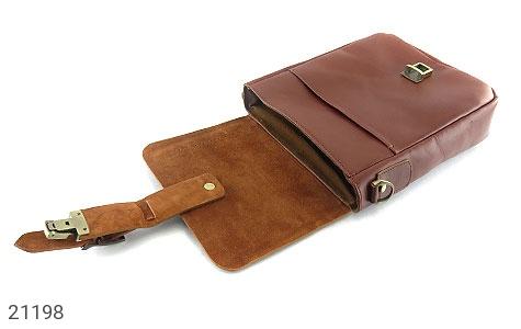 تصویر کیف چرم طبیعی دوشی اسپرت قهوه ای خوش رنگ - شماره 6
