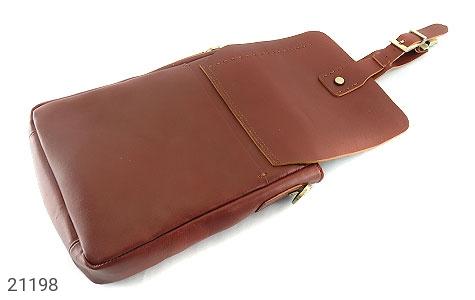 تصویر کیف چرم طبیعی دوشی اسپرت قهوه ای خوش رنگ - شماره 7