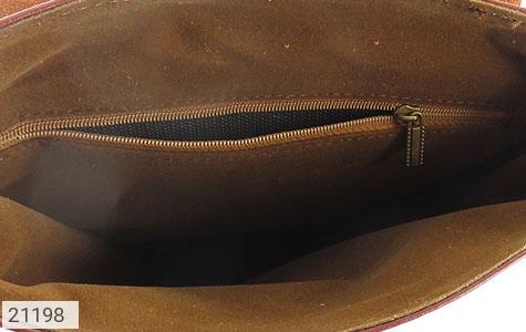 عکس کیف چرم طبیعی دوشی اسپرت قهوه ای خوش رنگ - شماره 8