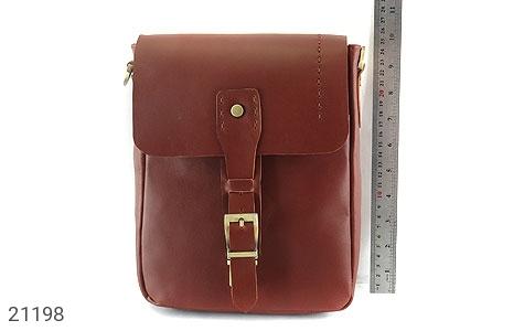 تصویر کیف چرم طبیعی دوشی اسپرت قهوه ای خوش رنگ - شماره 9
