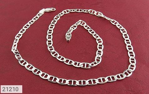 عکس زنجیر نقره اسپرت 51 سانتی - شماره 1
