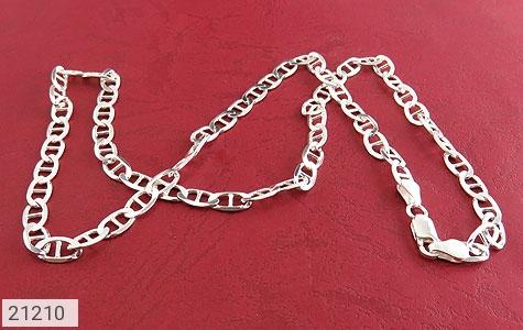 عکس زنجیر نقره اسپرت 51 سانتی - شماره 2