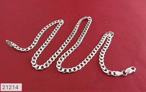 عکس زنجیر نقره حلقه ای درشت و فاخر 61 سانتی