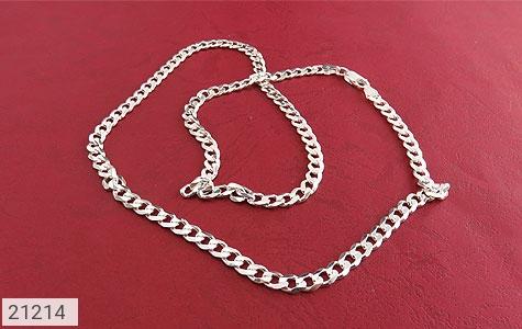 عکس زنجیر نقره حلقه ای درشت و فاخر 61 سانتی - شماره 2
