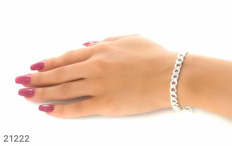 تصویر دستبند نقره طرح حلقه ای فاخر - شماره 4