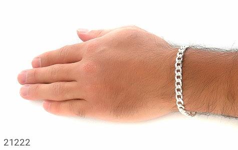 تصویر دستبند نقره طرح حلقه ای فاخر - شماره 5