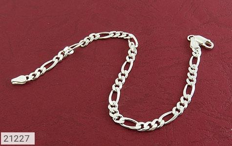 عکس دستبند نقره جذاب و اسپرت 21 سانتی