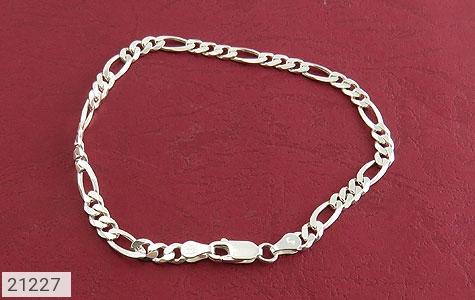 تصویر دستبند نقره جذاب و اسپرت 21 سانتی - شماره 2