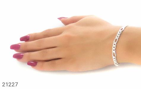 عکس دستبند نقره جذاب و اسپرت 21 سانتی - شماره 4