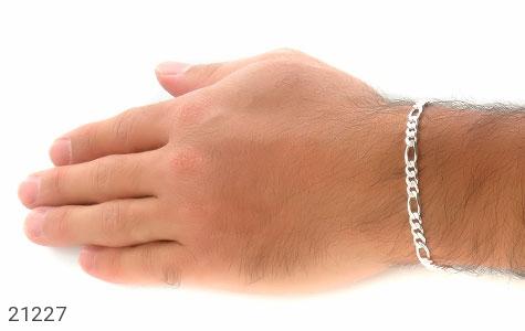 تصویر دستبند نقره جذاب و اسپرت 21 سانتی - شماره 5