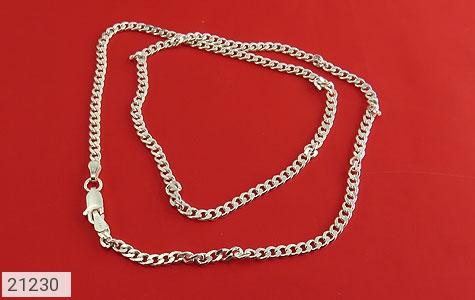عکس زنجیر نقره طرح ماهان اسپرت 45 سانتی - شماره 1