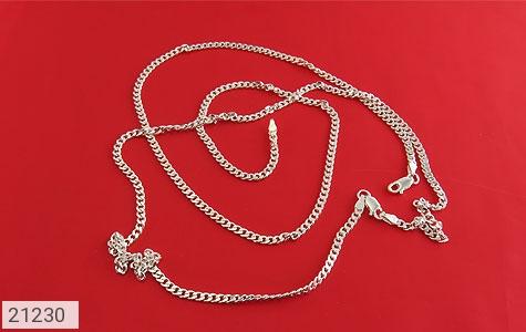 عکس زنجیر نقره طرح ماهان اسپرت 45 سانتی - شماره 3