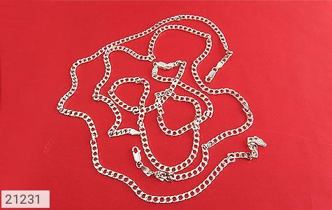 تصویر زنجیر نقره طرح حلقه ای 45 سانتی - شماره 3