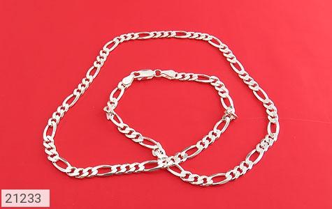 عکس زنجیر نقره جذاب و اسپرت 45 سانتی