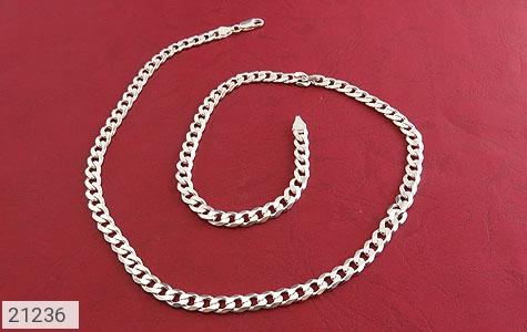عکس زنجیر نقره درشت و اشرافی 60 سانتی مردانه