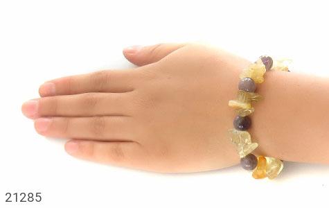 تصویر دستبند آمتیست و کوارتز زنانه - شماره 5