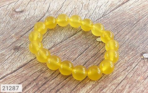 دستبند جید زرد جذاب زنانه - 21287