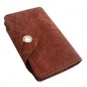 کیف چرم طبیعی دگمه ای مخصوص کارت
