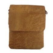 کیف چرم طبیعی عسلی مدلی دوشی اسپرت
