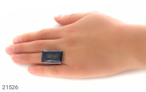 تصویر انگشتر لاجورد درشت با پایه فری سایز - شماره 7
