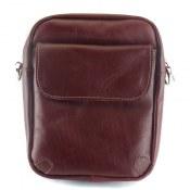 کیف چرم طبیعی زرشکی مدل دوشی اسپرت