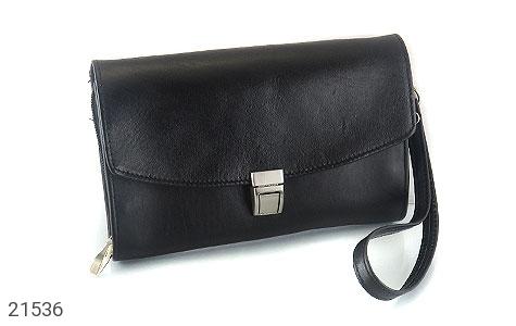 عکس کیف چرم طبیعی دستی سیاه طرح دیپلمات