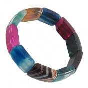 دستبند عقیق رنگارنگ و درشت زنانه