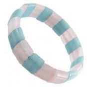 دستبند آکوامارین و کوارتز خوش رنگ زنانه