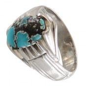 انگشتر نقره فیروزه نیشابوری شجر خوش رنگ مردانه