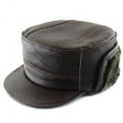کلاه جیر طبیعی گوسفند دوحالته قهوه ای تیره مردانه
