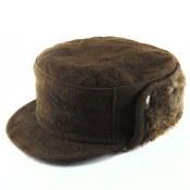 کلاه جیر طبیعی گوسفند دوحالته تیره مردانه