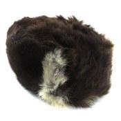 کلاه پوست طبیعی خرگوش رنگ قهوه ای دو رنگ