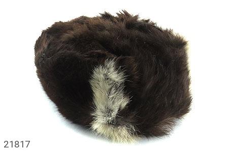 عکس کلاه پوست طبیعی خرگوش رنگ قهوه ای دو رنگ