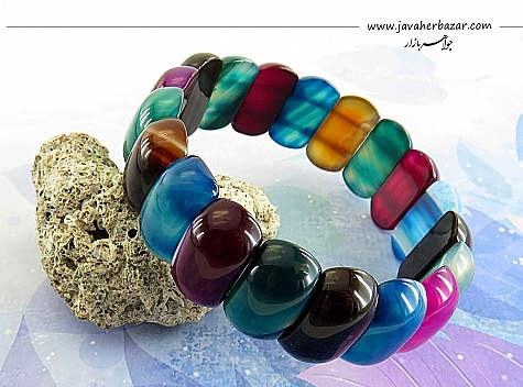 دستبند عقیق درشت طرح نشاط زنانه - 21877