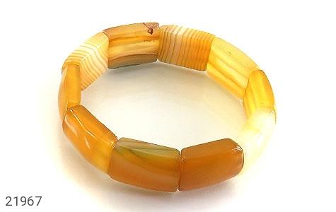 عکس دستبند عقیق زرد درشت و خوش نقش