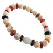 دستبند صدف و دلربا و کهربا و عقیق زنانه