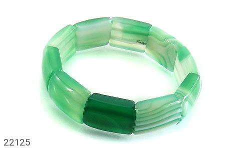 دستبند عقیق سبز زنانه - 22125