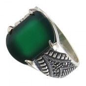 انگشتر عقیق سبز طرح شهریار مردانه