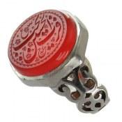 انگشتر نقره عقیق یمن خوش رنگ حکاکی فاخر مردانه