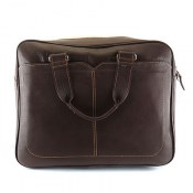 کیف چرم طبیعی قهوه ای تیره طرح اسپرت
