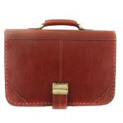 کیف چرم طبیعی رسمی قهوه ای طرح دیپلمات